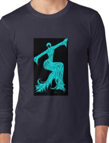 Blue Fire Girl Long Sleeve T-Shirt