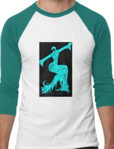 Blue Fire Girl Men's Baseball ¾ T-Shirt