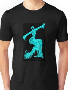 Blue Fire Girl Unisex T-Shirt