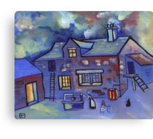 The old cottage (from my original painting) Canvas Print
