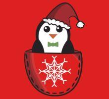 Christmas pocket penguin Kids Clothes