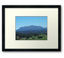 Mt Roland at Sheffield  Framed Print