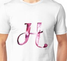 Alphabet H Unisex T-Shirt