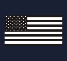 American Flag, Black, Stars & Stripes, USA, America by TOM HILL - Designer