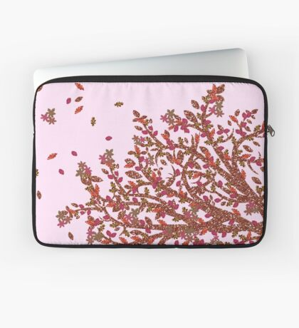 Rose Gold Floral Nature Design Laptop Sleeve
