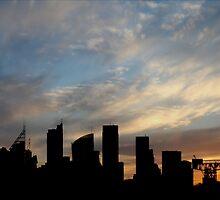 Sydney Skyline Silhouette  by Kim Roper