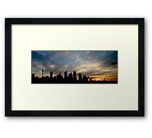 Sydney Skyline Silhouette  Framed Print