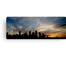 Sydney Skyline Silhouette  Canvas Print