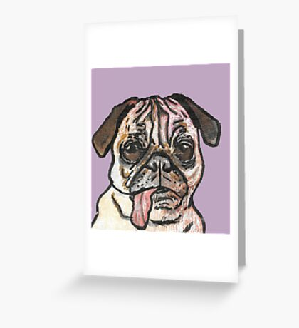 Dreaming of Pugs Greeting Card