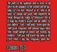 Ezekiel 25:17 - The path of the righteous man pulp fiction quote by bakery