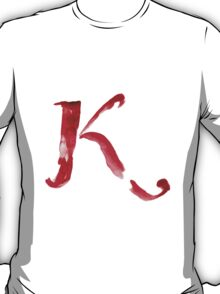 Alphabet K T-Shirt