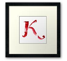 Alphabet K Framed Print