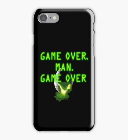 Game Over, Man - ALIENS iPhone Case/Skin