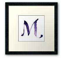 Alphabet M Framed Print