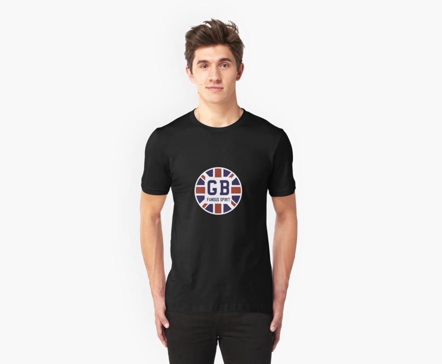 Famous British Spirit - Union Jack Flag T-Shirt by Mark Wilson