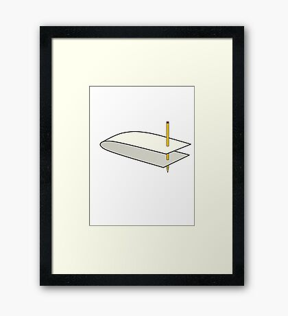 Worm Hole Simplified  Framed Print