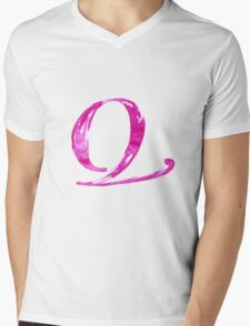 Alphabet Q Mens V-Neck T-Shirt