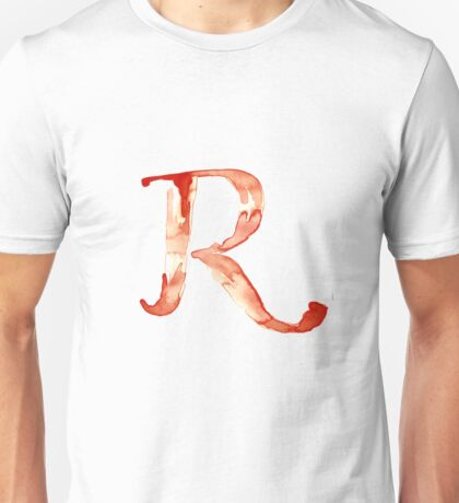 Alphabet R Unisex T-Shirt