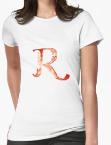 Alphabet R Womens Fitted T-Shirt