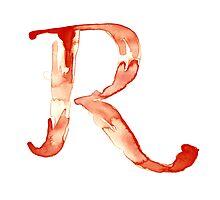 Alphabet R Photographic Print