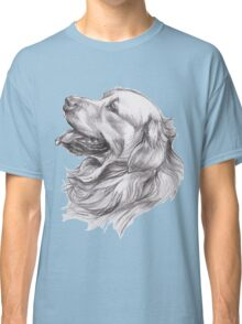 Golden Retriever Dog Portrait Drawing Classic T-Shirt