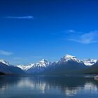 Floating on Lake McDonald by Fred Frank