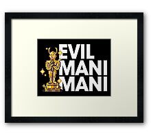 Evil Mani Mani statue Framed Print