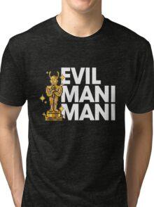 Evil Mani Mani statue Tri-blend T-Shirt