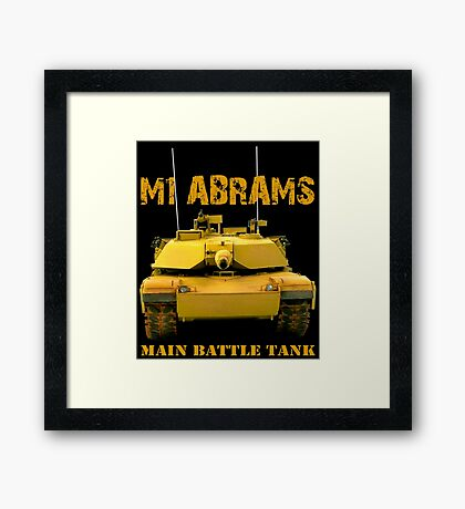 M1 Abrams Main Battle Car Framed Print