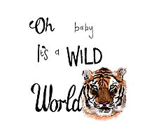 Oh Baby it's a wild world  Photographic Print
