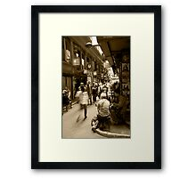 Laneway Life Framed Print