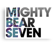 Mighty Bear Seven Canvas Print