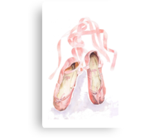 Ballet slippers Canvas Print