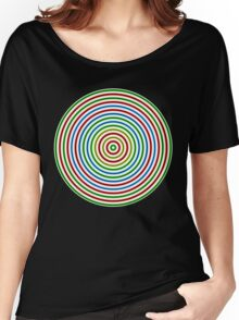 Vibrating Concentric Color Circles Women's Relaxed Fit T-Shirt