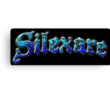 Silexare Text on Black Canvas Print