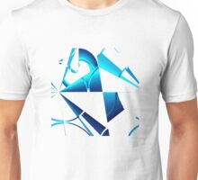 Bits and Pieces in Blue Unisex T-Shirt