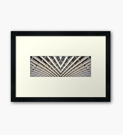 Symmetrical Bridge Strut Abstract Framed Print