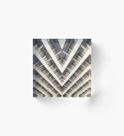 Symmetrical Bridge Strut Abstract Acrylic Block
