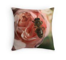 Bee Rosey Throw Pillow