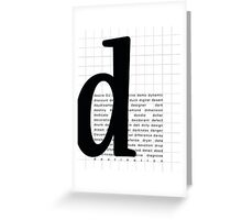 Art Print - Words with Letter D - Words and Letters - Typography Greeting Card