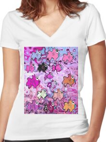 Mauve Gills Women's Fitted V-Neck T-Shirt