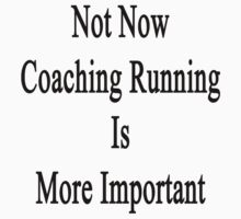 Not Now Coaching Running Is More Important  by supernova23