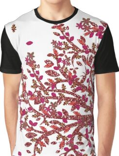 Dark Rose Gold and White Graphic T-Shirt