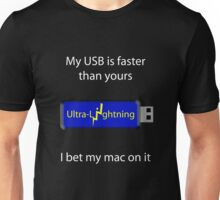 My USB is faster (black) Unisex T-Shirt