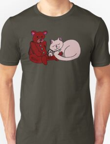 Cat With Teddy Bear T-Shirt