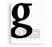 Art Print - Words with Letter G - Words and Letters - Typography Canvas Print