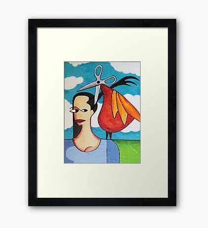 The Hairdresser Bird Framed Print
