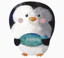 Cute Penguin and Dead Fish Kids Clothes