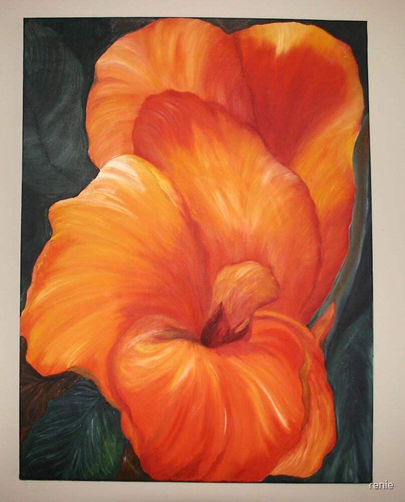 flame in orange by renie