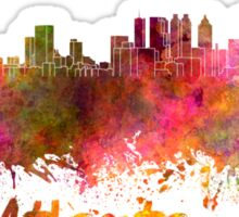 Atlanta skyline in watercolor Sticker
